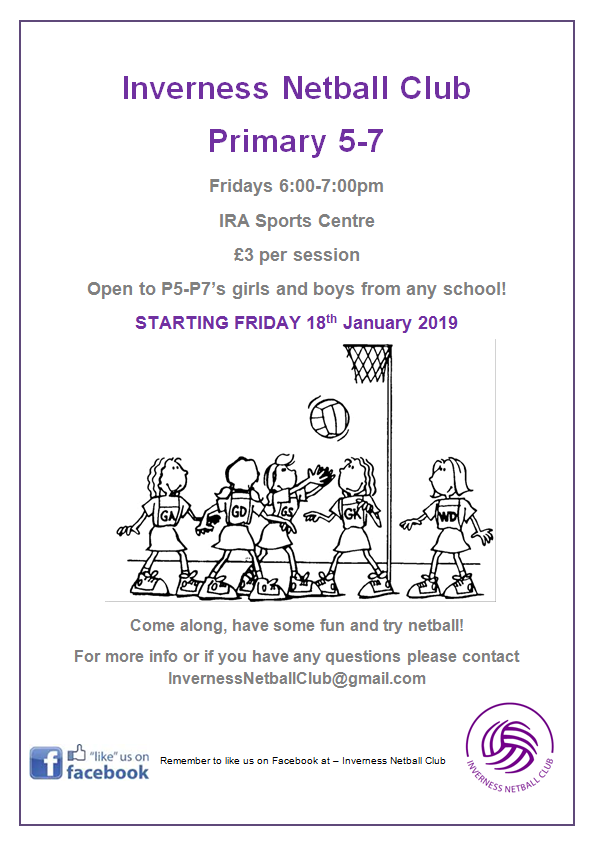 netball primary sessions poster
