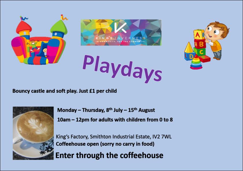Playdays flyer